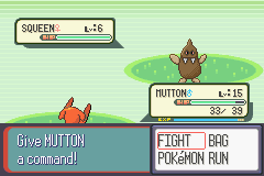 Pokemon Topaz - Squeen looks like a turd - User Screenshot